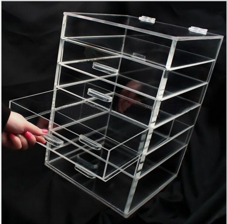 Transparent Silker Print Table Top Display Stands , Clear Acrylic