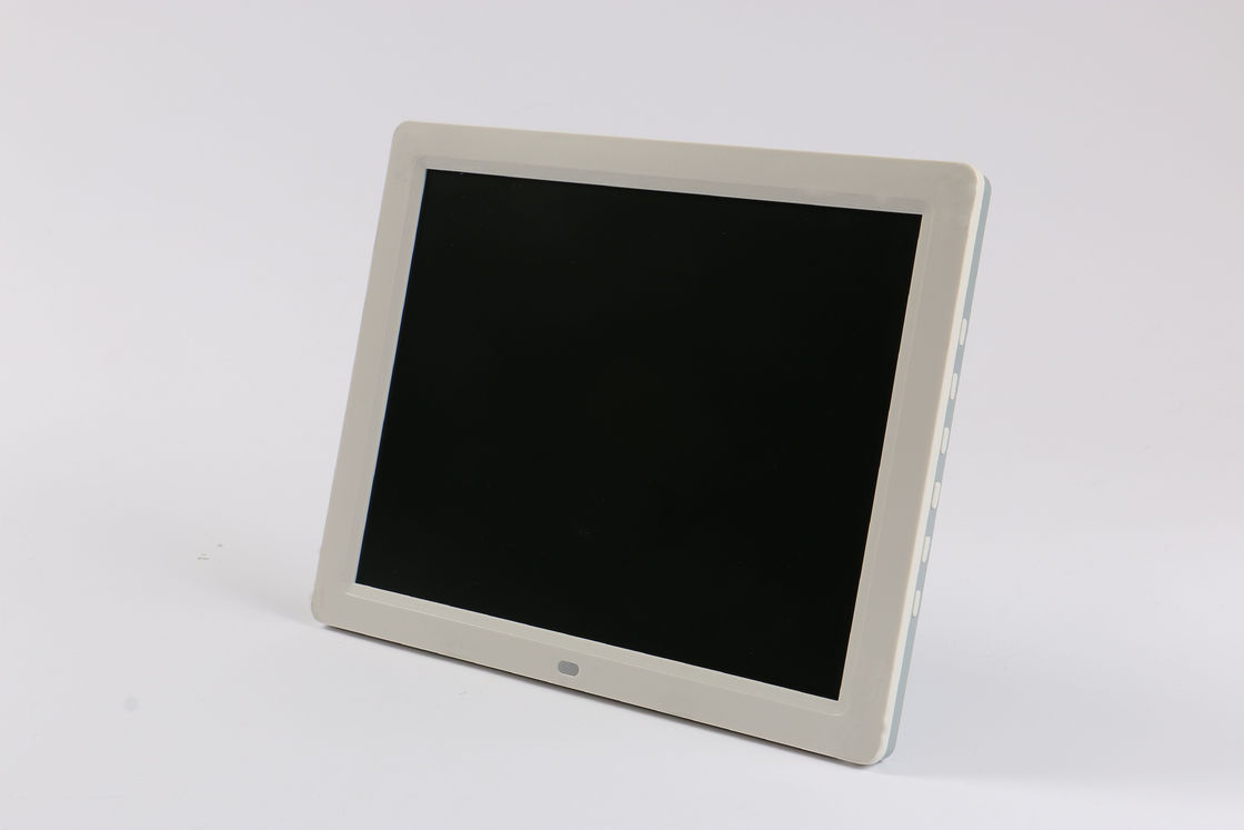 Decorative White 12 Inch LCD Digital Photo Frame With 128MB - 8GB Card