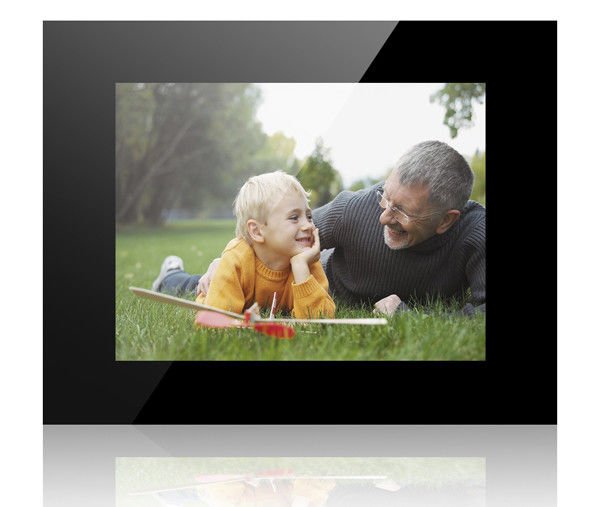 Black HD 12 Inch Acrylic POP LCD Display Lcd Photo Frame With Video Auto Play