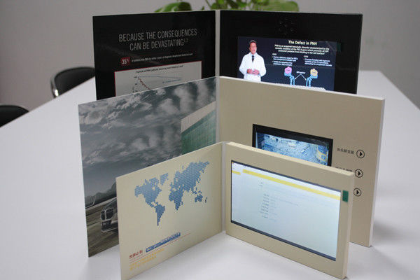 Battery operated custom video greeting cards brochure 43 inch 250cdm2 m4hsunfo