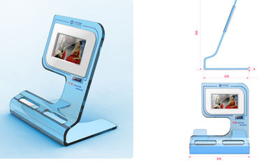 China High Resolution Desktop Advertising POS LCD Display Supports Video Loop Play factory