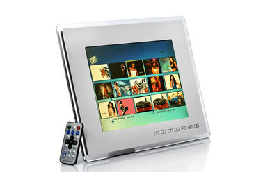 "China Modern 12"" Transparent Acrylic Personalized Digital Photo Frame With Touch Button distributor"