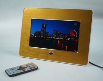 "China Advertising 7"" Metal Brushed POP LCD Display Screen With Video Loop Play factory"