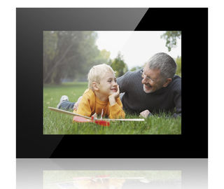 China Black HD 12 Inch Acrylic POP LCD Display Lcd Photo Frame With Video Auto Play factory