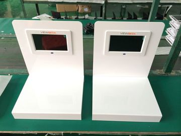 7 Inch 5MM White Acrylic POS LCD Display With 128MB - 8GB Flash Memory Card
