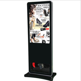 China Black Floor Standing LCD Advertising Player , Library Web Based Digital Signage factory