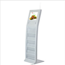"15"" USB 2.0 Magazine Floor Standing LCD Advertising Player With Flash Memory Card"