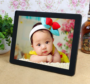 China Decorative Desktop 12 Inch Resistance Touch Screen Digital Photo Frames 800*600 distributor