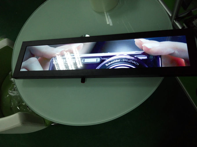 500 Nits Stretched Bar LCD Digital Advertising Display 28'' For Your POP Devices